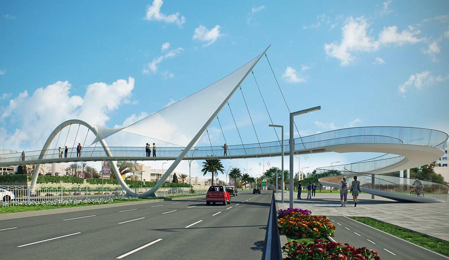 תכנון גשר במסגרת תחרות אדריכלות
