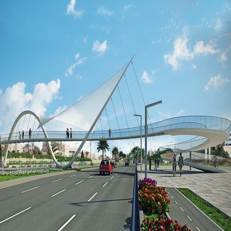 תכנון גשר במסגרת תחרת אדריכלות
