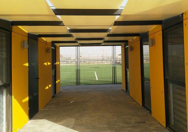 """פארק נחל באר שבע מתחם הספורטק – מבנה הנהלה ומועדון בית""""ר באר שבע"""